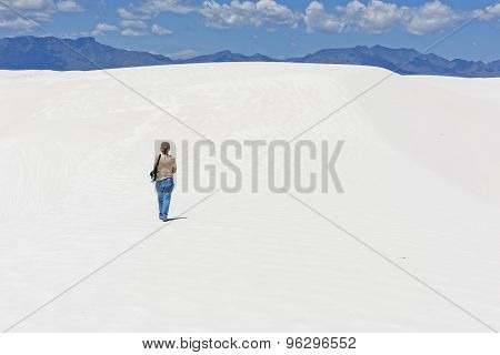 Hiking At White Sands