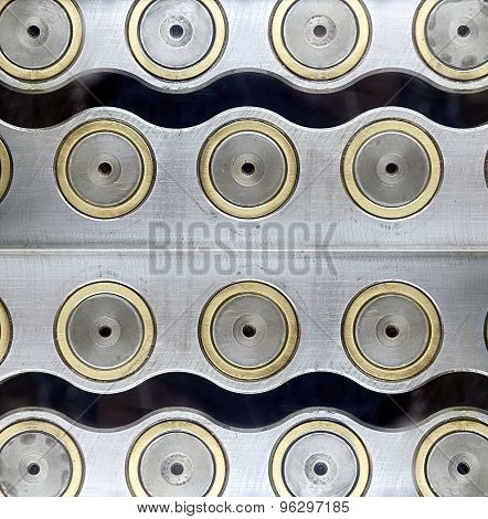 Concentric Steel Circles Background