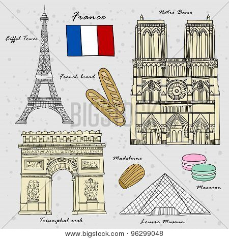Travel Concept Of France