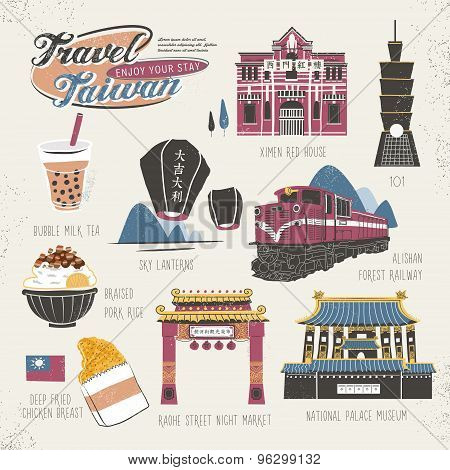 Travel Concept Of Taiwan