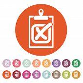 stock photo of tasks  - The checklist icon - JPG