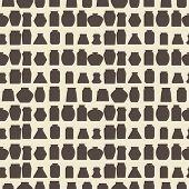 foto of mason  - Mason jars  seamless pattern - JPG