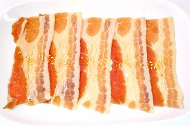 image of pork belly  - pork belly slice isolate on white background - JPG