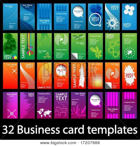 Colorful Vertical Business Cards
