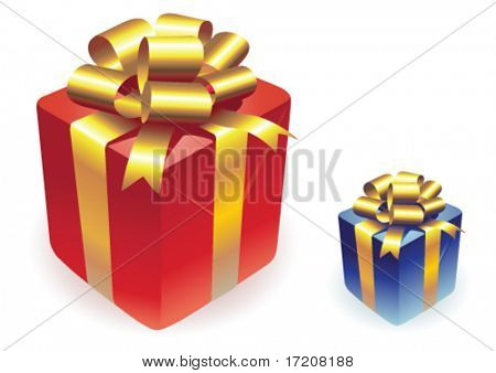 Vector gifts boxes isolated on white