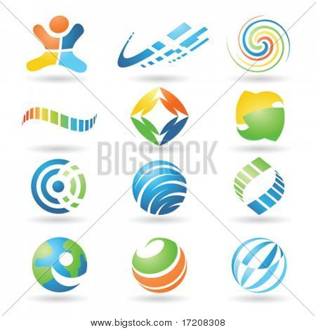 Set of vector design elements 4