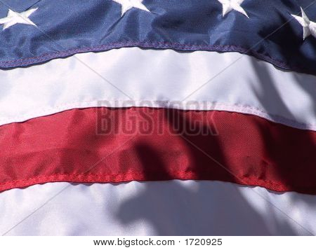 Us Flag With Stars At Top And Horizontal Stripes At Bottom