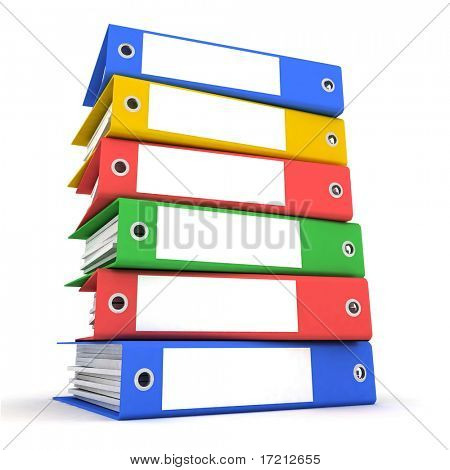 Color folders for papers