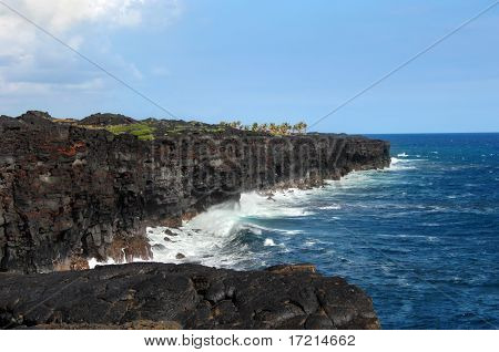 Black Lava Sea Cliffs