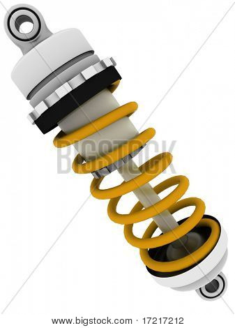 Shock-absorber isolated on white
