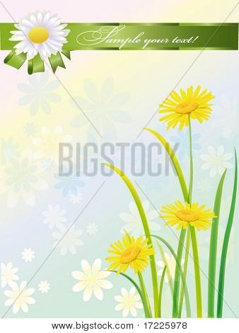 beautiful vector illustration with flowers