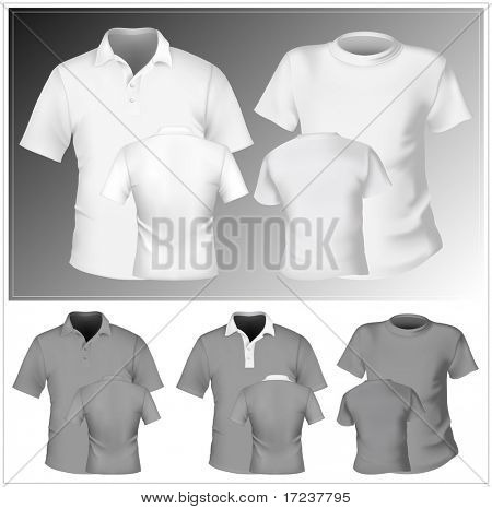 Vector. Men's t-shirt and polo shirt design template.