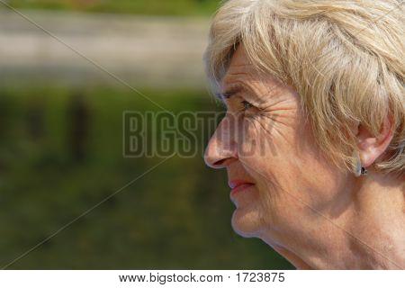Wrinckled Woman Profile