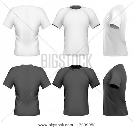 Vector illustration. Men's t-shirt design template