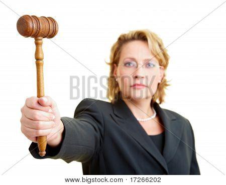 Judge Holding Hammer