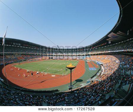 Stadium with People