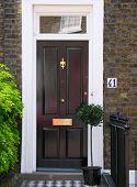 image of front door  - Traditional English victorian front door - JPG