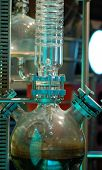 stock photo of crude-oil  - experiment showing distillation process of crude oil - JPG