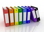 stock photo of file folders  - folders for papers - JPG