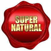 Постер, плакат: supernatural 3D rendering red wax stamp with text