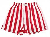 Red white striped boxer shorts underwear poster