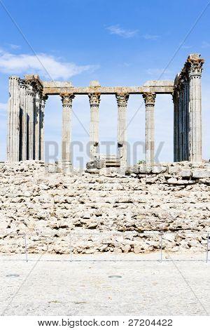 Roman temple of Diana, Evora, Alentejo, Portugal