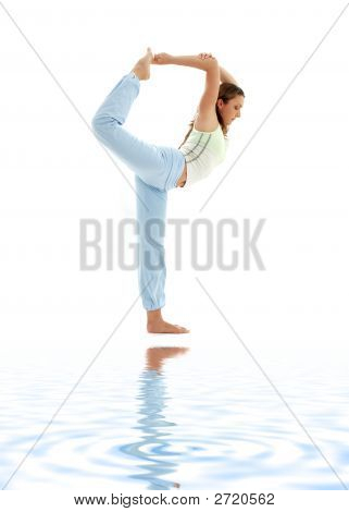 Natarajasana Lord Of The Dance Pose On White Sand