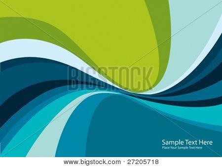 abstract Vector Hintergrund bunt Waves und Linien