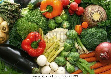Постер, плакат: Смешанные овощи, холст на подрамнике