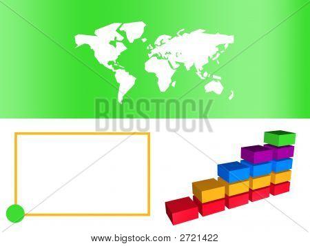 Green Business Bar Chart Showing Growth