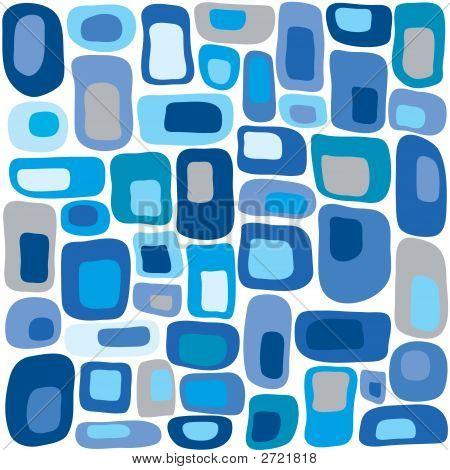 Retro Squares In Blue