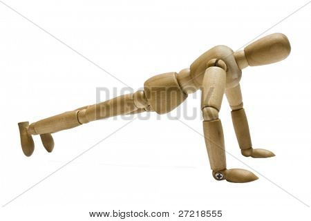 wooden business of persons is isolated on a white background