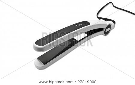 tongs for hairs are isolated on a white background