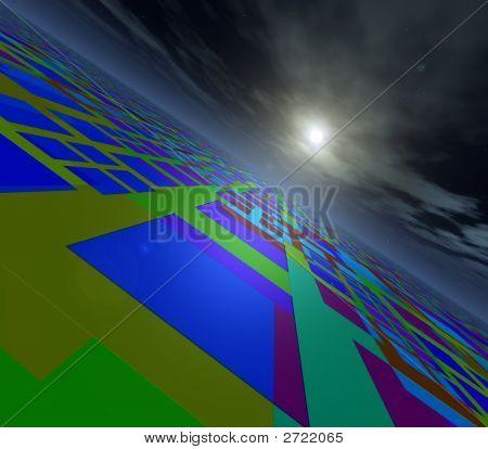Abstrakte Horizont Perspektive