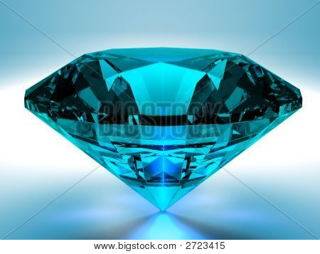 Blue Diamond 3D Render