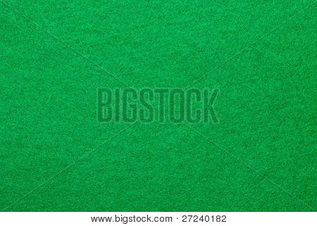 A green felt surface of a gambling table awaits the cards of the game to be dealt