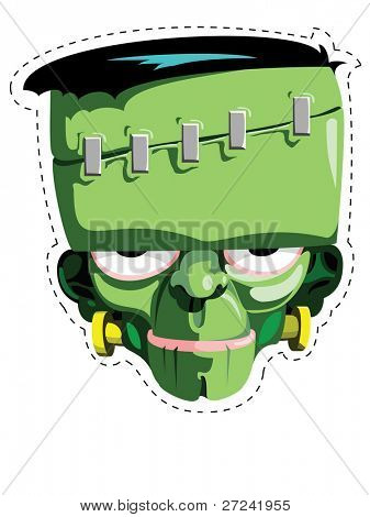 Cut out and keep Frankenstein mask