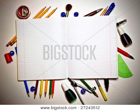 Open writing-book and school tools