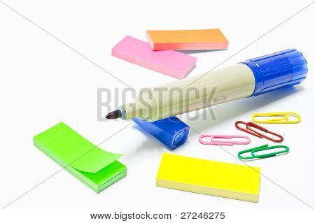 The Brigth Colors Used For Stationery Supplies
