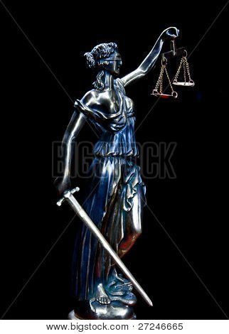 Antique Statue of justice. Series