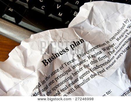 Plano de negócios ruim. Série