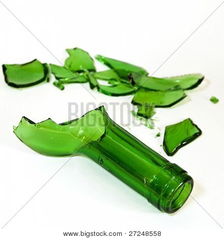Broken bottle glass