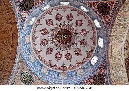 The frescoes in the church Aya Sofia. �°stanbul, Turkey