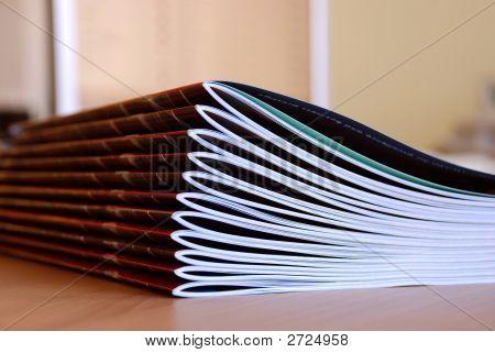 Magazines In Row