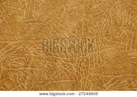 Textura de couro marrom qualitativa natural. Close-up. Série