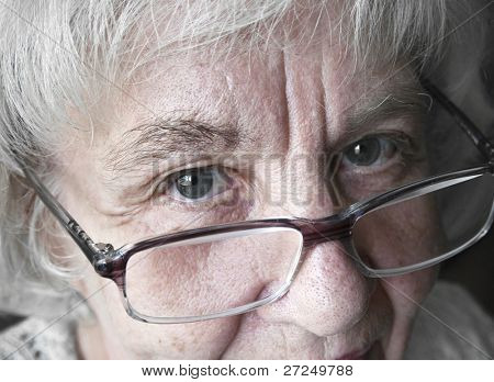 Mature woman in glasses
