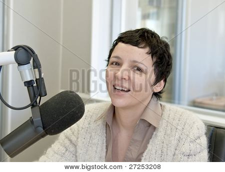 Radio DJ in studio