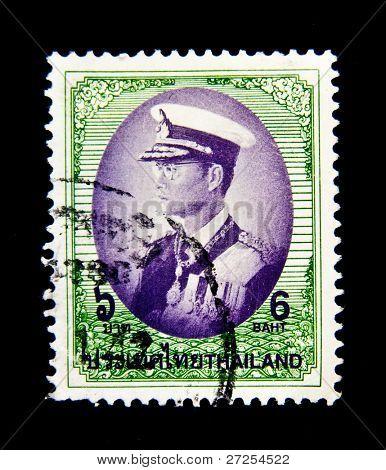 THAILAND - CIRCA 1997: A stamp printed in Thailand shows Bhumibol Adulyadej Rama IX of Thailand, circa 1997
