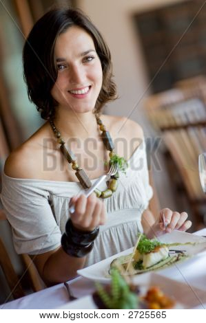 Woman Dining