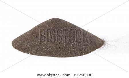 sand's cone - ore of mining industry isolated on white background